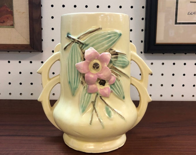 "SOLD - 1940s McCoy ""Blossom Time"" Pottery Vase"