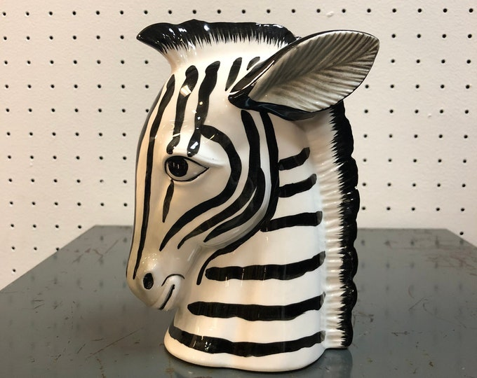 Fitz and Floyd Ceramic Zebra Head Bust
