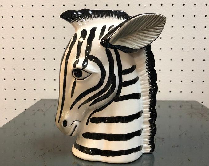 Fitz and Floyd Ceramic Zebra Head Bust