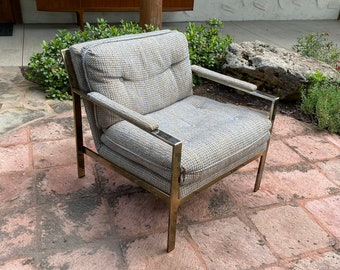 Milo Baughman for Thayer Coggin, Mid Century Modern Flat Bar Lounge Chair