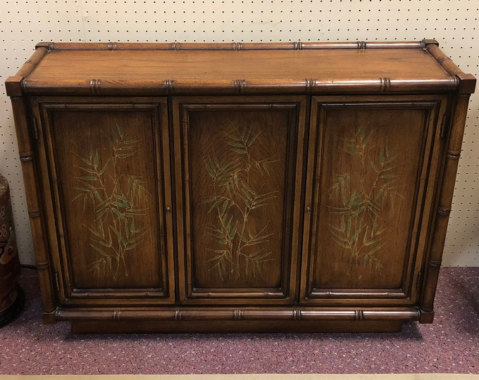 Mid Century Chinoiserie Console Cabinet / Entry Table by Bernhardt Furniture Company