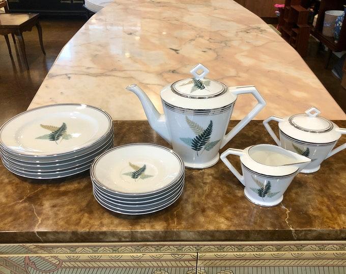 1950s Noritake Fernwood Porcelain Tea Service