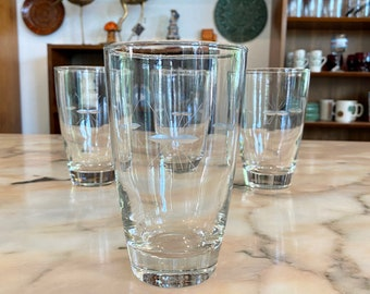 Set of Four Mid Century Modern Atomic Starburst Drinking Glasses / Tumblers
