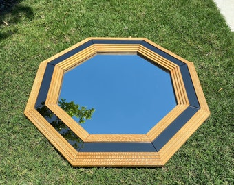 Italian Octagonal Stepped Frame Wall Mirror