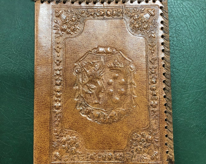 Victorian Style Coat of Arms Griffin and Crown Embossed Leatherette Book Cover