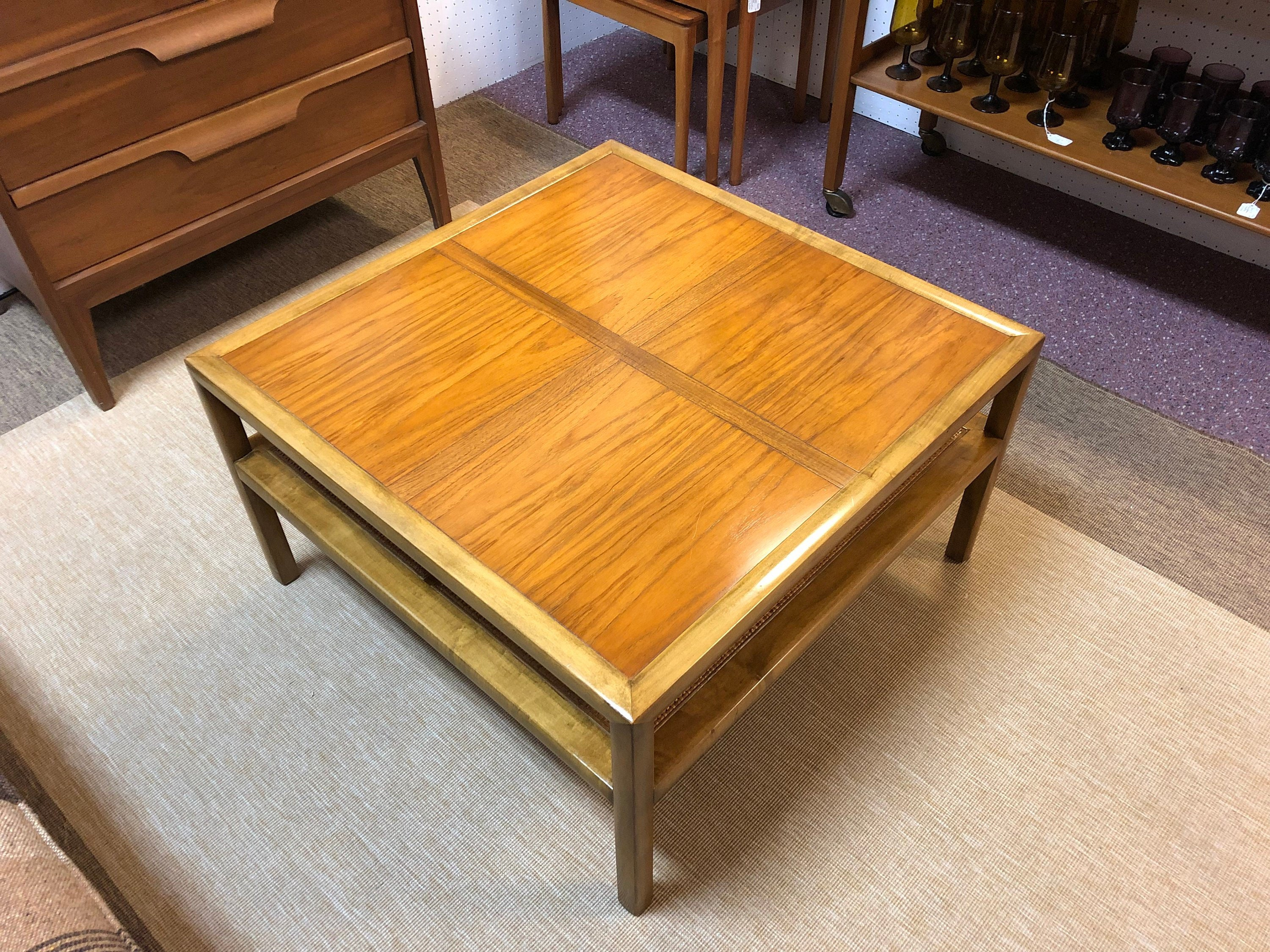1950s Mid Century Modern Baker Furniture Square Coffee