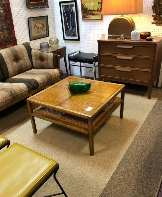 1950s Mid Century Modern Baker Furniture Square Coffee Table Etsy