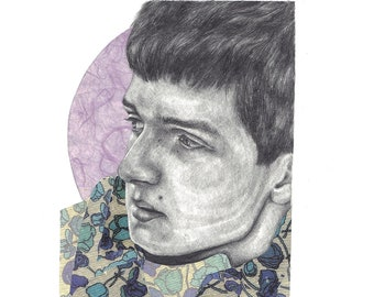 Ian Curtis Limited Edition Print A4