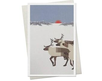 97 / card / reindeer