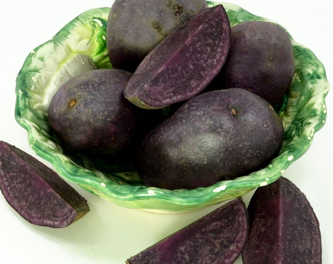 Purple Majesty Seed Potatoes Certified Organic and Virus Free 5 Lbs. Purple Seed Potatoes - Spring Shipping Non-GMO