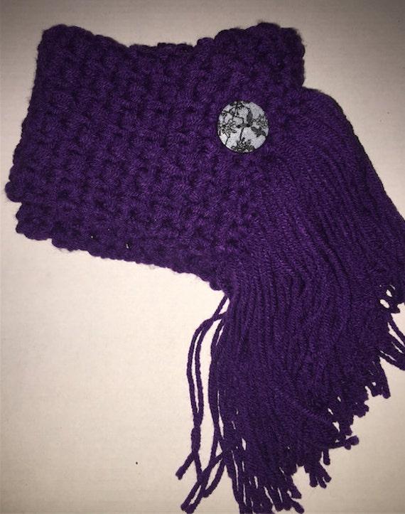 Scarf Crochet Pattern Onlyilds Fringed Crochet Etsy