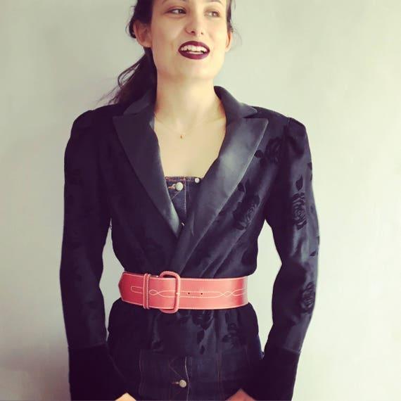 Vintage Nina Ricci jacket padded shoulders black j