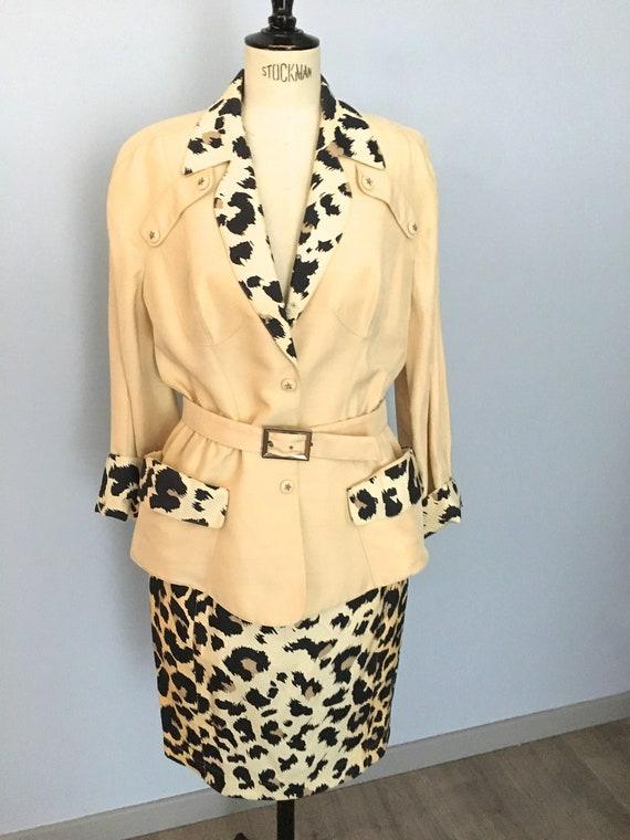 Thierry Mugler silk leopard suit vintage Mugler ch