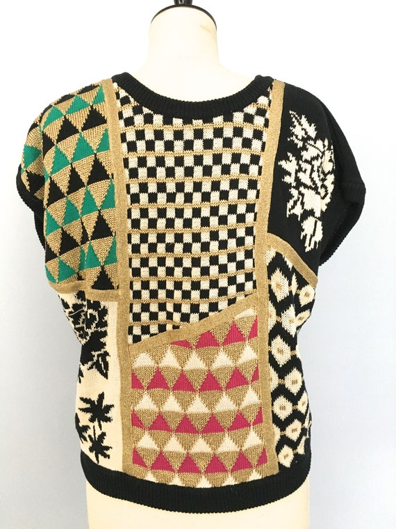 Kansai Yamamoto sweater glitter sweater 80s kansai