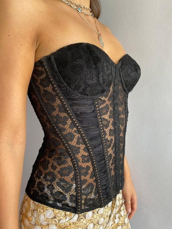 La Perla lace bustier La Perla black lace corset b