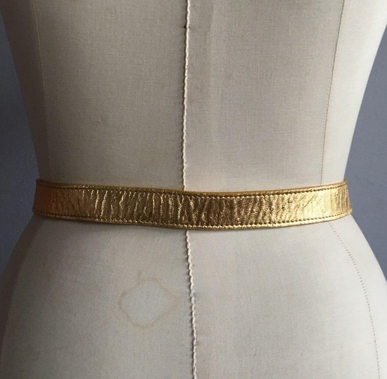 d6542649ee2 Christian Dior belt gold leather belt John Galliano for Dior