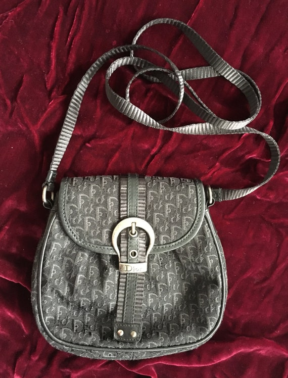 Vintage Dior black trotter mini cross body bag Dior black logo   Etsy 721c077f60