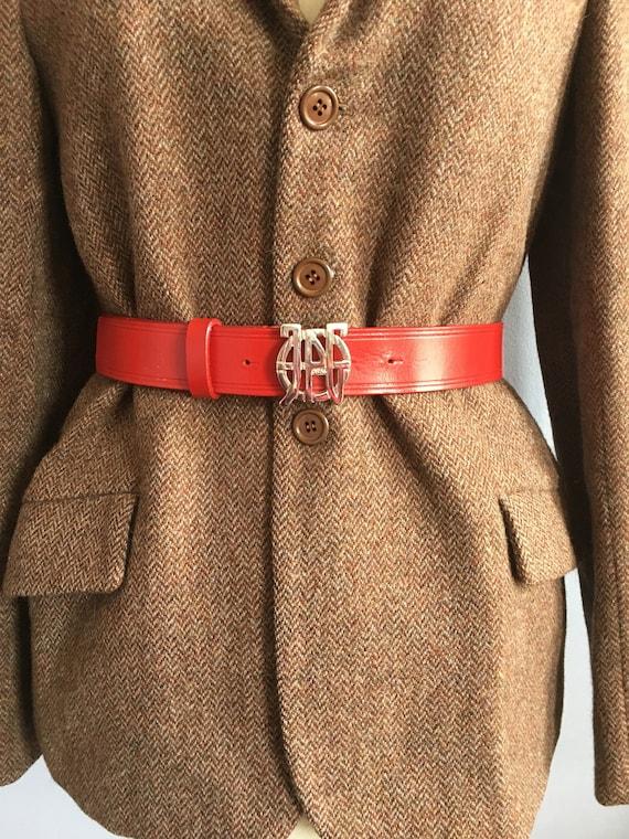 Jean Paul Gaultier red leather belt vintage Gaulti