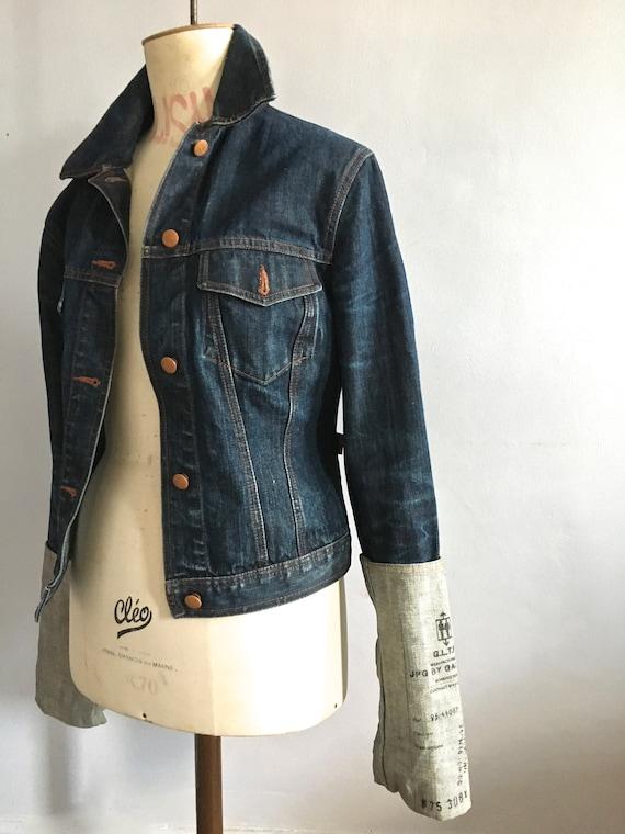 Jean Paul Gaultier denim jacket wide cuffs 90s Gau