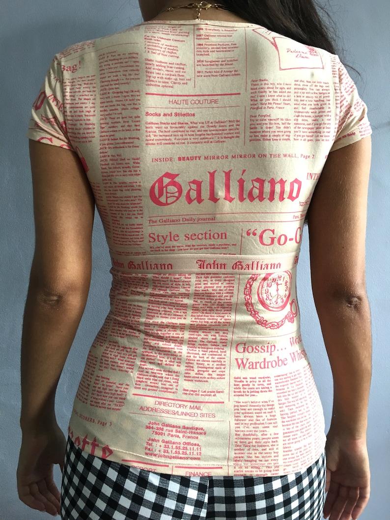9501bd1d2f Galliano gazette top John Galliano newspaper print top vintage | Etsy