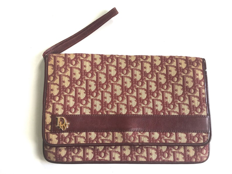 312cd7a88840 Vintage Christian Dior trotter clutch purse 70s Dior monogram