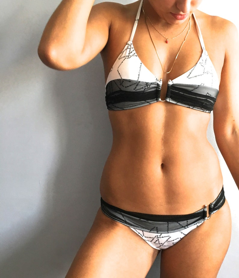 John Galliano bikini vintage Galliano bathing suit two