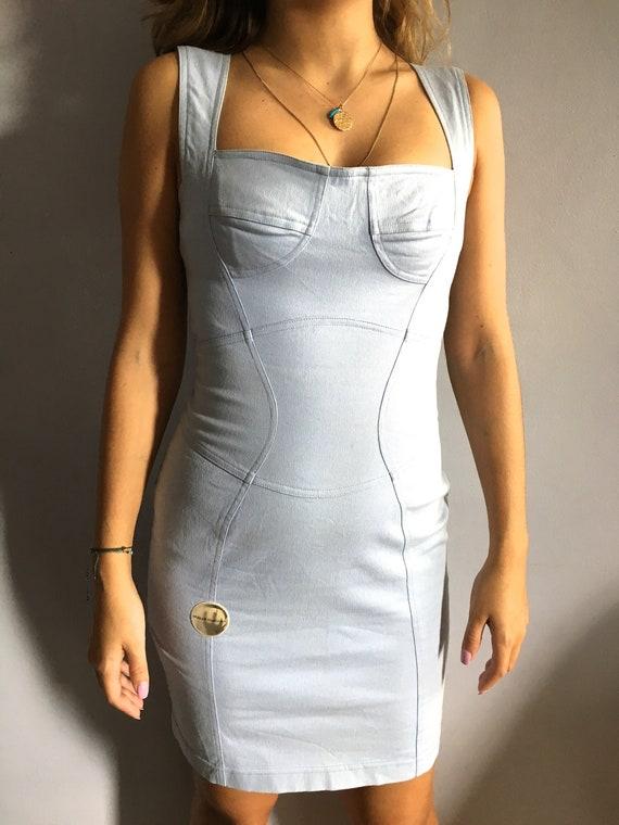 Thierry Mugler dress 90s Mugler MTM bustier dress