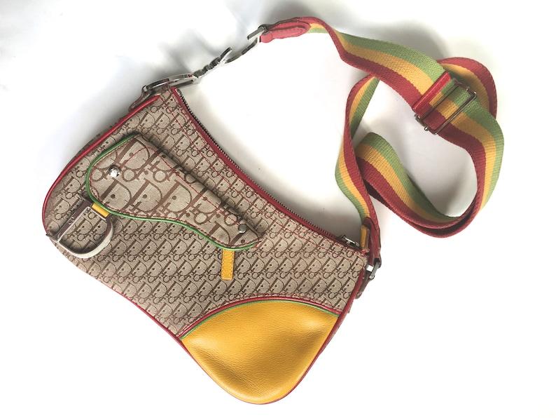 3567f288c296 RESERVED Do not buy vintage Dior rasta saddle bag Dior