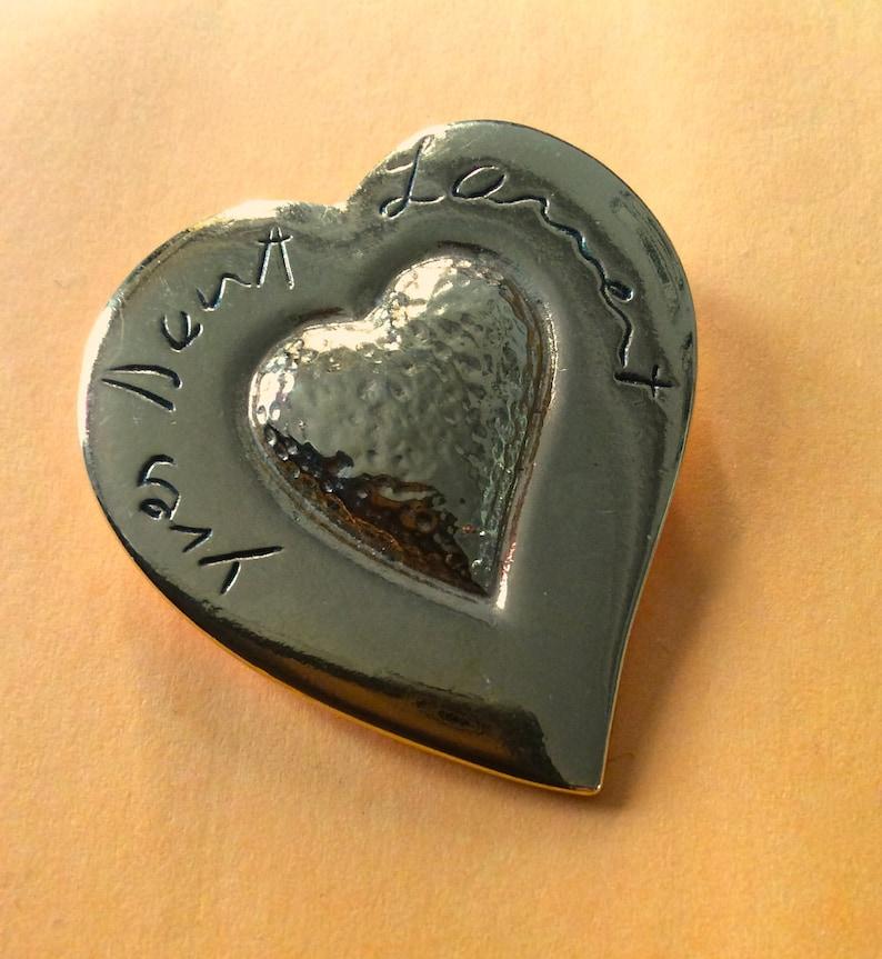 15fa76f04d Vintage Yves Saint Laurent heart brooch vintage YSL pin vtg