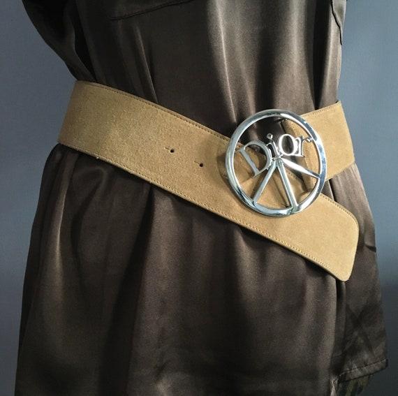 b123d01ada0 Dior belt peace sign suede belt Christian Dior by John