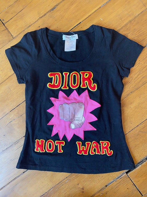 Dior Not War top Galliano for Dior t-shirt Dior by
