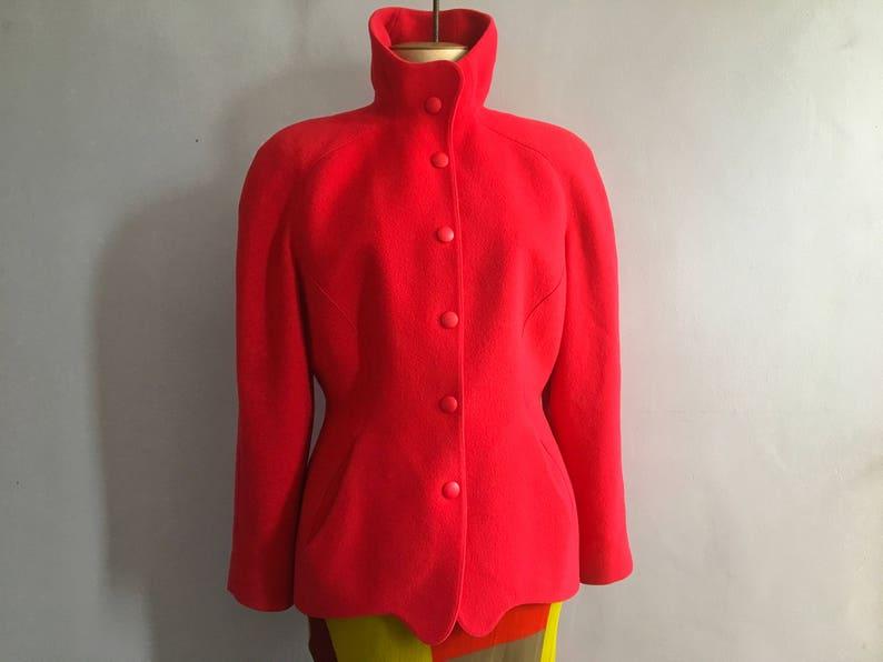 c5b9c06e60 Vintage Thierry Mugler jacket shoulders pads 80s Mugler wool | Etsy
