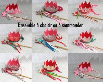 Handmade Princess crown and magic wand