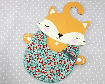 fox handmade baby bib