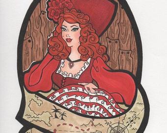 Red Head variant - hand drawn illustration