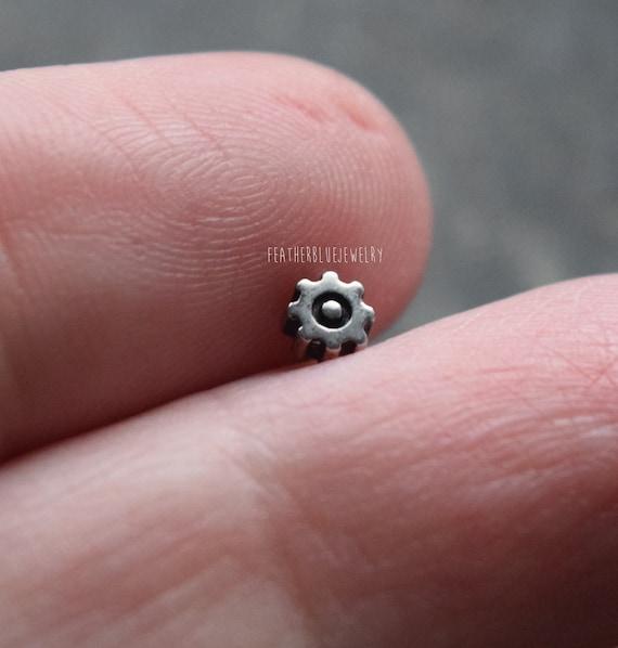 Titanio Labret 1,6 mm 14g grado 23 Lip Stud perforación del oído elige El Color De Longitud