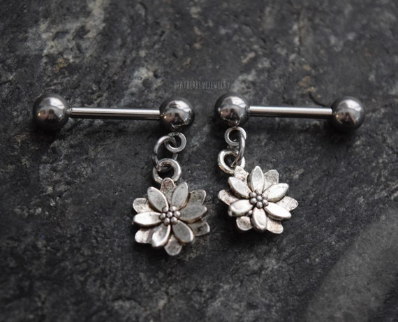 x 4 mm 1.6 x 16 5//8 Two Spikes Surgical Steel Basic Nipple Piercing Barbell Ring Piercing Jewel
