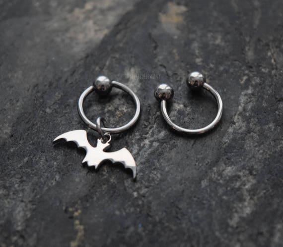 20g 18g 16g 14g 100/% Solid Steel Saturn CBR  BCR Bead Captive Ring Horseshoe Piercing Jewelry Hoop Helix Tragus Orbital