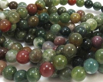 """Fancy Jasper Beads, 6mm Natural Multi-Colored Jasper beads, 6mm Green Beads, 16"""" inch Strand, Beading Supplies, Item 606pm"""
