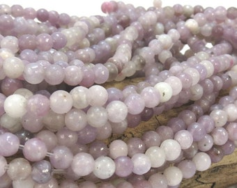 """Lilac Stone Beads, 4mm Purple Lilac Stone Bead, Natural Multi-Colored Beads, Purple 4mm Beads, 16"""" inch Strand, Beading Supplies, Item 957pm"""