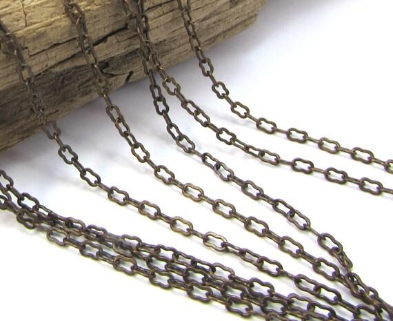 Chain Necklace Ornate Brass Chain Fine Ornate Etsy