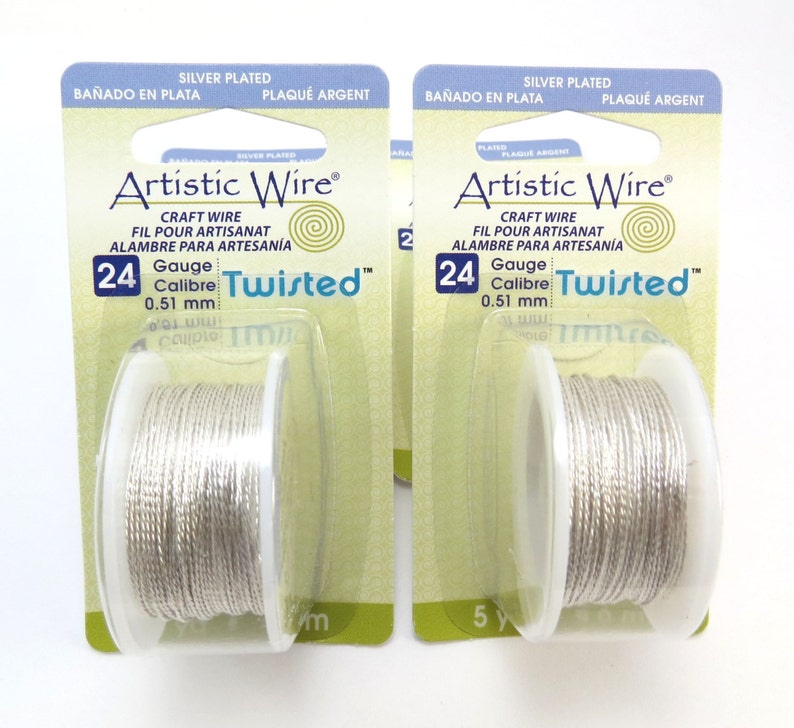 5 Yard Spool Item 1003wr Artistic Wire 24 Gauge Twisted Silver Wire Tarnish Resistant Silver Artistic Wire 24 gauge Silver Wire