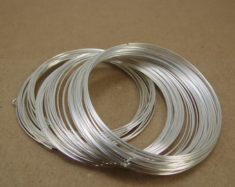 Memory Wire, Silver-Plated Carbon Steel Wire, 22 Gauge Bracelet Memory Wire, Jewelry Supplies, Beading Supplies, Item 579wr