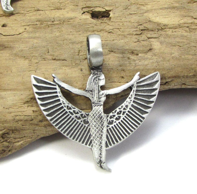 Winged Avatars Of Memory And Return >> Winged Ma At Pendant Antique Pewter 39x37mm Single Sided Winged Ma At Jewelry Supplies Item 270p