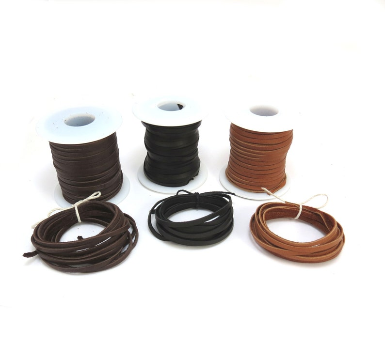 Two Black Leather Cord 2 Jewelry Supplies 3mm Black Leather Cord Item 488ct Deerskin Leather Cord Yards Black Leather Cord