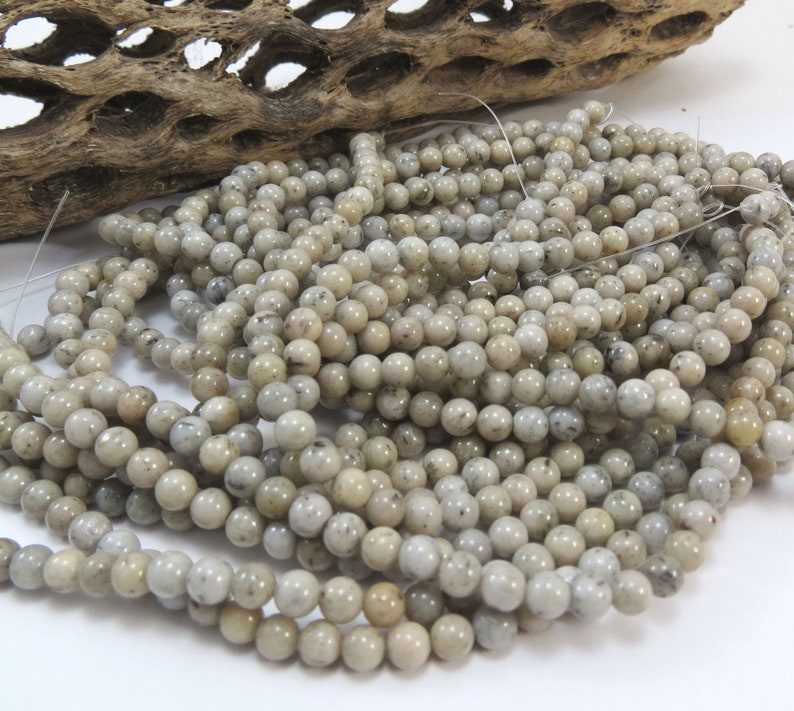 4mm Gray Beads 16 inch Strand Jewelry Supplies Item 1006pm Beading Supplies Grey Feldspar Beads Natural 4mm Round