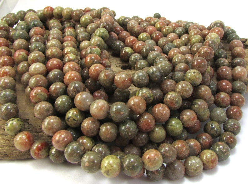 Natural Multi-Colored Jasper 8mm Round Beads Beading Supplies 16 inch Strand Autumn Jasper Beads 8mm Green Beads Item 956pm