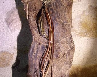Mono buckle feather - Hematite