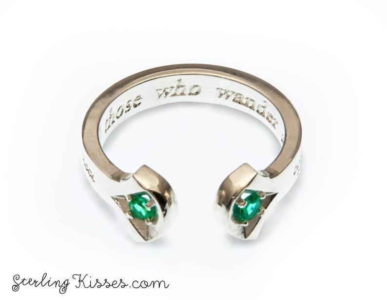 Riddle of Strider Ladies Ring LOTR Hobbit Inspired Imitation image 0