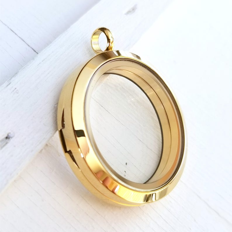 One plain drop floating memory glass locket with chain free shipping